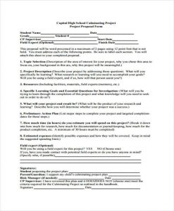 project proposal outline high school project proposal template