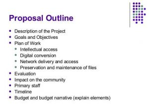 project proposal outline project proposal outline planning and implementing a digital library project cb - Proposal Outline