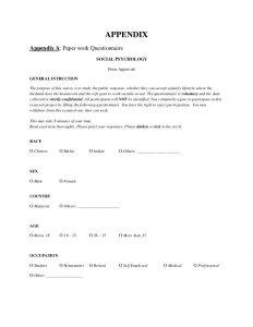 project report format social psychology report final project