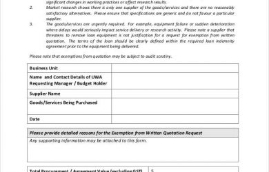 project summary template printable quotation waiver form