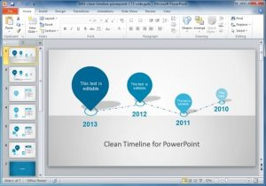 project timeline template word clean timeline design for powerpoint