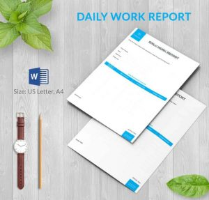 project update template daily report template word download min x
