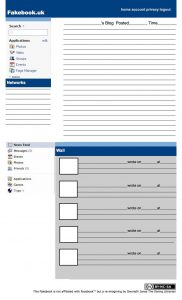 project update template fakebook uk page