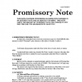 promissory note example promissory note