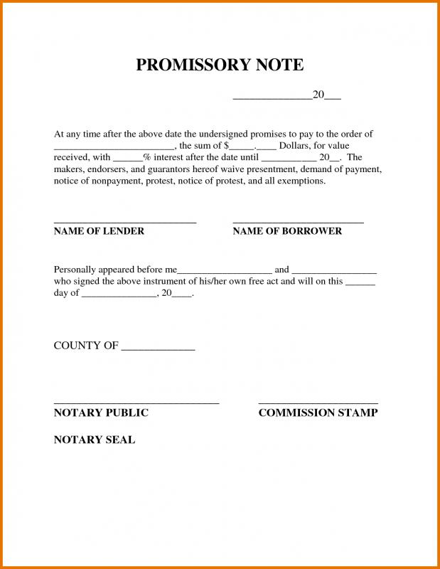 Promissory Note Example | Template Business