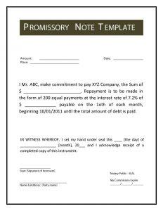 promissory note template promissory note template 33