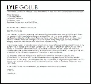 promotion letter templates hostess