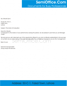 promotional letter template sample promotion letter to employee free download