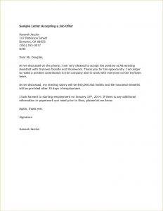 promotional letter templates acceptance letter template example promotion acceptance letter