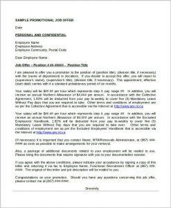 promotional letter templates job promotion offer letter template