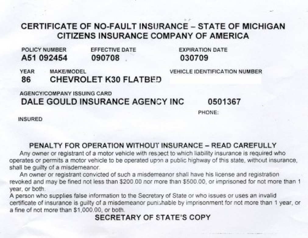 Proof Of Auto Insurance Template Free Template Business - Card template free: fake car insurance card template
