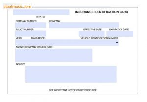 proof of auto insurance template free fake insurance card template x