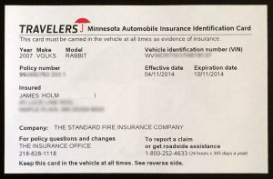 proof of auto insurance template free insurance identification card
