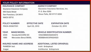 proof of auto insurance template free sample health insurance card template template blogpost intended for insurance