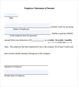 proof of income form proof of income letter template pdf