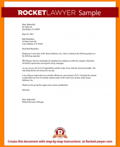 proof of income letter from employer salary increase letter sample request a raise form template