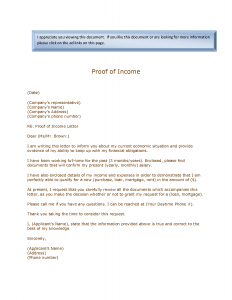 proof of income proof of income letter iacowgwo