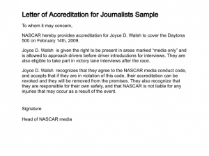 proof of income self employed letter of accreditation for journalists sample