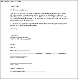 Proof of residency letter notarized template business proof of residency letter notarized sample notarized letter of employment template pdf printable blank notarized letter yelopaper Gallery