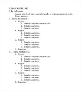 proper outline format basic proper essay outline format