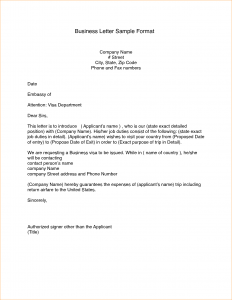 proposal letter format an official letter format