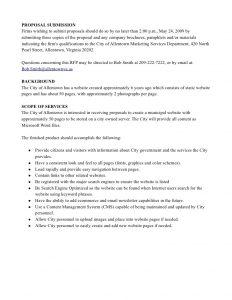 proposal template free basic website rfp sample