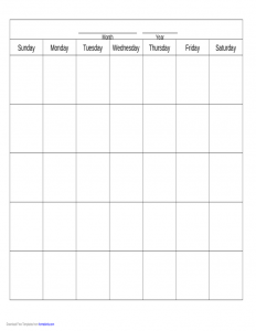 proposal template free blank calendar template l