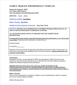 proposal template word sample word proposal template pdf