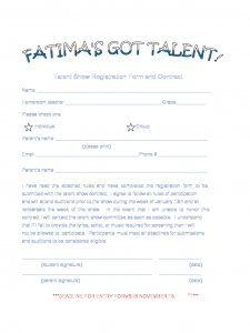 publisher calendar templates sample registration form for talent show d