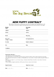 puppy bill of sale puppy sale contract template