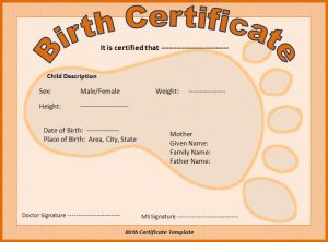puppy birth certificate birth certificate template