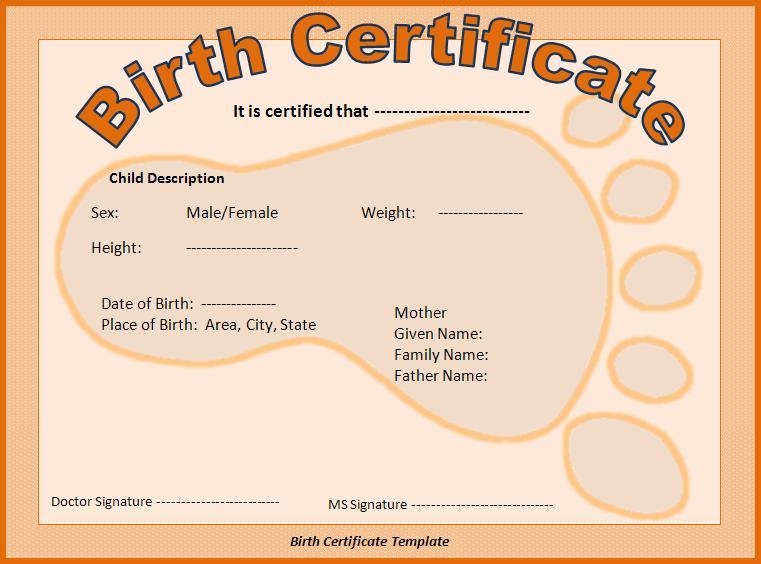 puppy birth certificate