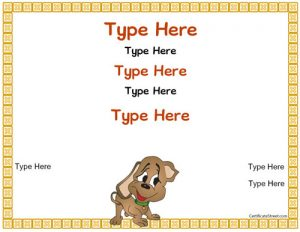 puppy birth certificate certificatestreet bl