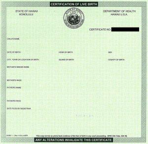 puppy birth certificate hawaiian birth certificate blank