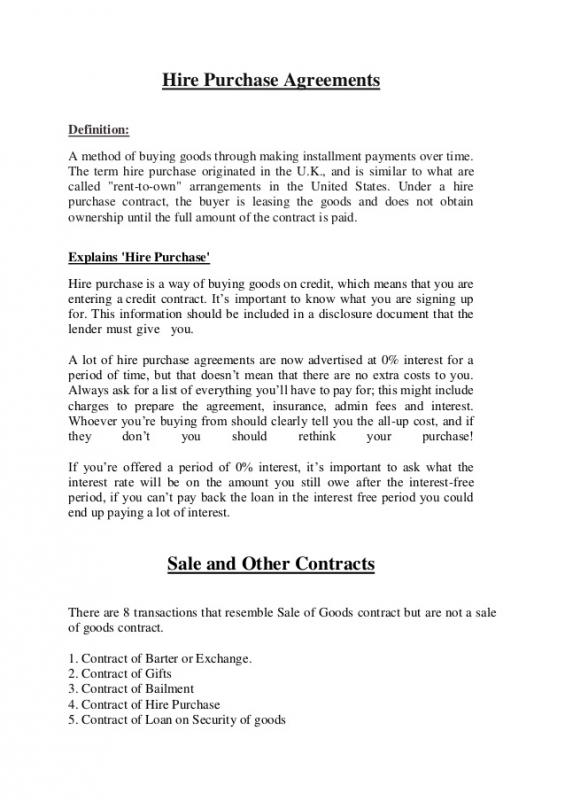 Purchase Agreement Sample  Template Business
