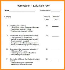 purchase order template pdf presentation evaluation template student presentation evaluation form