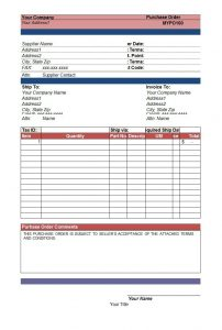 purchase order templates word free purchase order templates in word excel