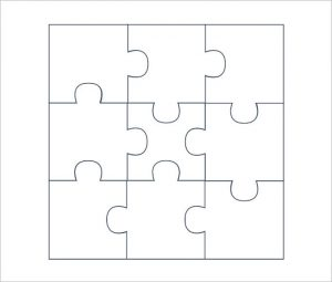 puzzle pieces template blank puzzle pieces template