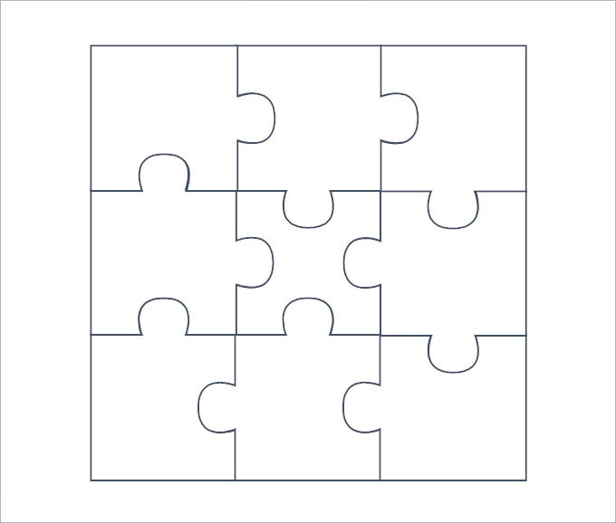 Puzzle Pieces Template  Template Business
