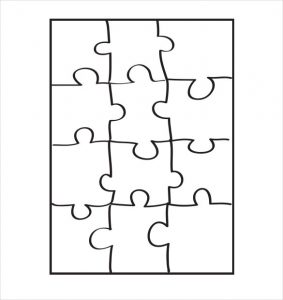 puzzle pieces template puzzle pattern