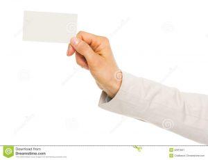 qr code business cards closeup hand business woman holding business card high resolution photo