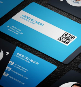 qr code business cards creative business card on behance google chrome optimized