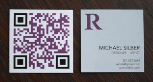 qrcode business card reblis