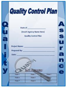 quality control plan quality control plan template