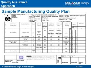 quality control plan quality management
