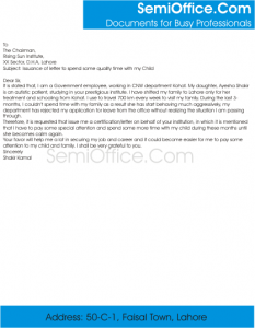 query letter format application for medical certificate and letter