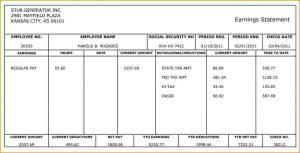 quickbooks pay stub template free paycheck stub generator sample payroll generator stub