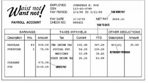 quickbooks pay stub template pay stub