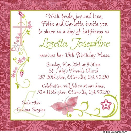 Quinceanera Invitations Templates Template Business