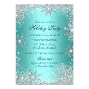 quinceanera invitations templates teal winter wonderland christmas holiday party invitation refdfdefbdee zkrqe